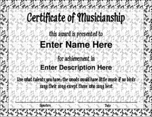 award templates free musicblank