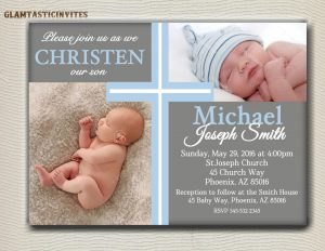 baby dedication certificates baby boy baptism invitation free template
