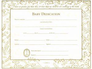 baby dedication certificates baby dedication certificate template word