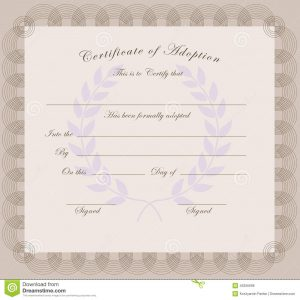 baby dedication certificates certificate adoption official