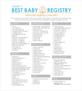 baby registry checklist complete baby registry checklist template pdf file