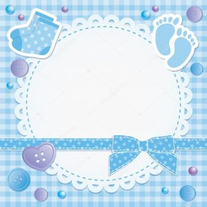 baby shower card template depositphotos stock illustration baby frame