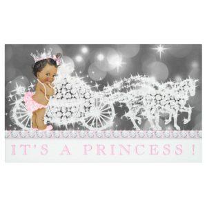 baby shower card template pink african american princess baby shower banner rfefaeababffefed jjhi