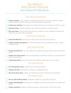 baby shower planning baby planning guide