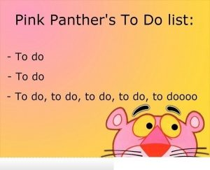 baby shower to do list to do list meme post pink panther to do list meme i kuv qwzfvd
