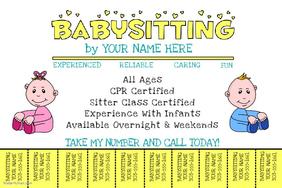 babysitting flyers examples