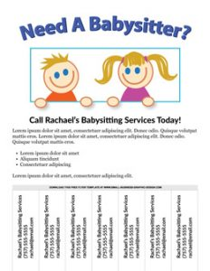 babysitting flyers examples free babysitting flyer demo