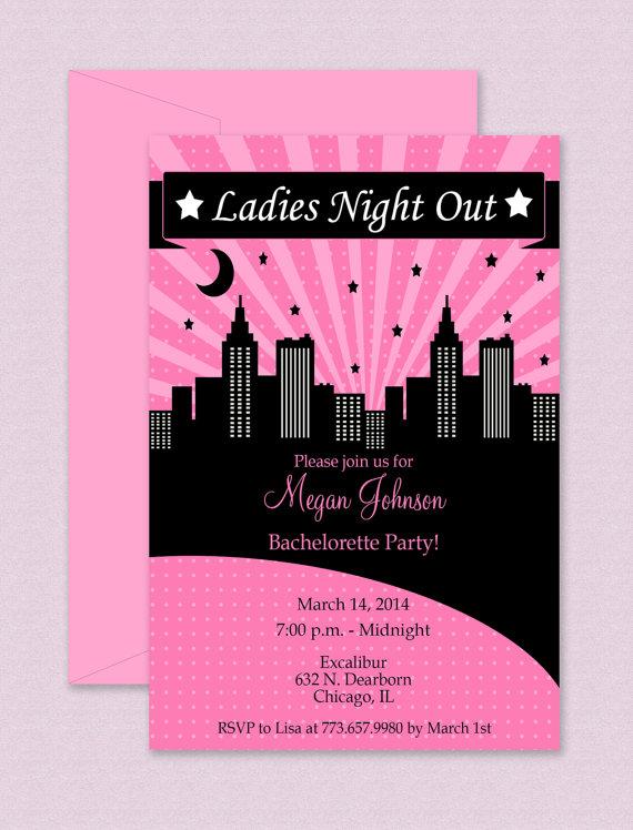 bachelorette party invitation template