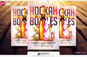 background for flyer hookah and bottles flyer template sickflyers com download