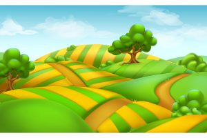 background for flyers farm field landscape d vector background converted
