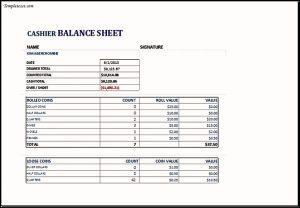 balance sheet example excel cashier balance sheet
