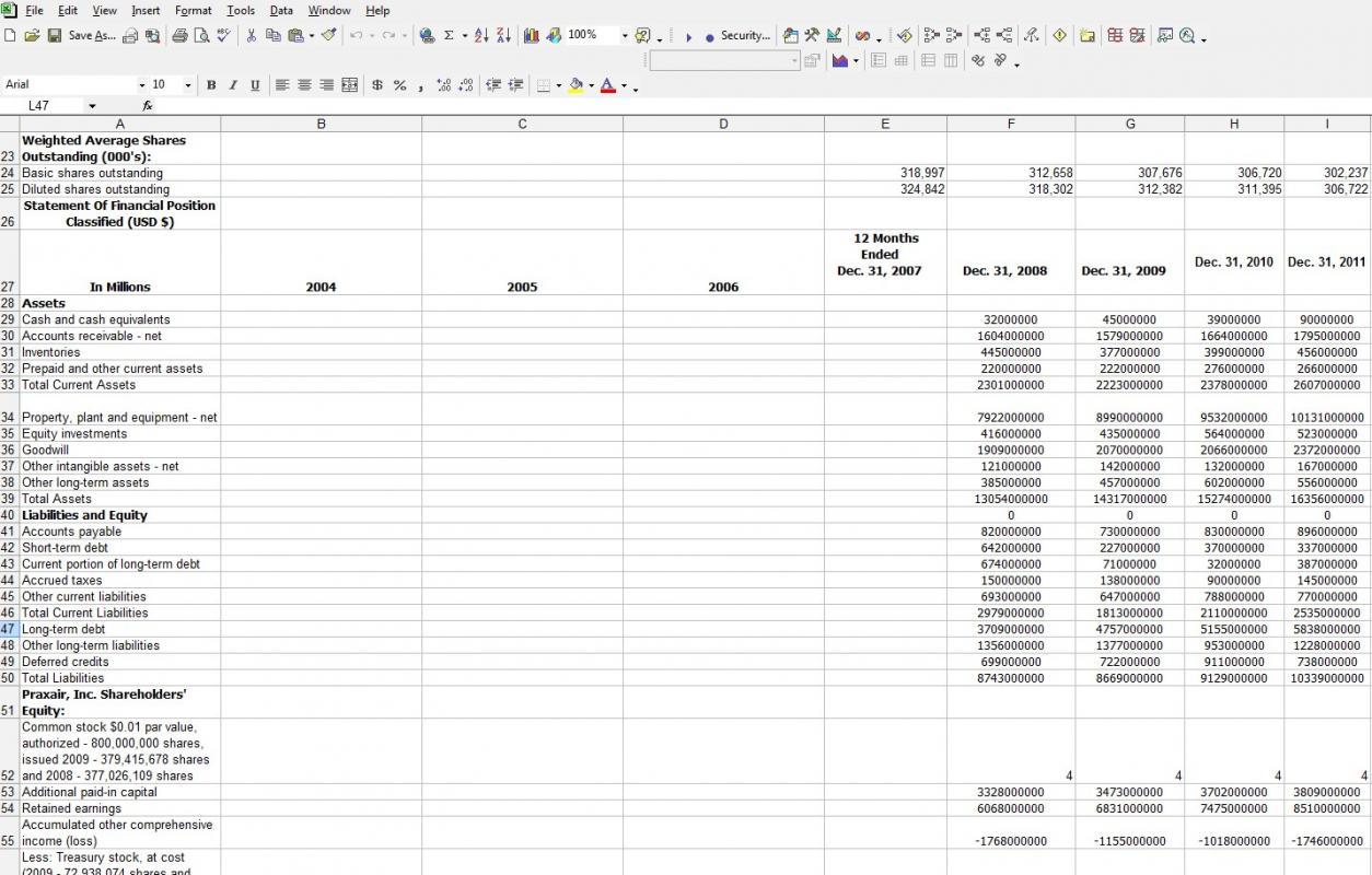 balance sheet example excel