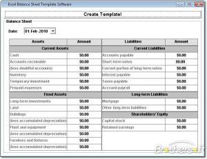balance sheet template excel excel balance sheet template software