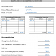 bank reconciliation template bank reconciliation report completed example