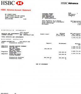 bank statement example