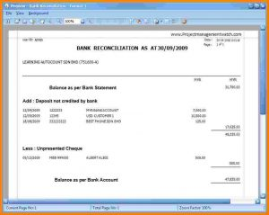 bank statement example bank reconciliation statement format bank reconciliation statement format