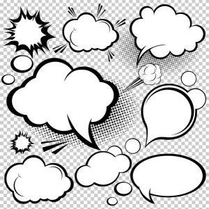 banner design templates cartoonstyle mushroom cloud layer vector