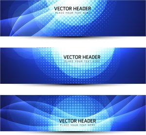 banner design templates header banner blue abstract background