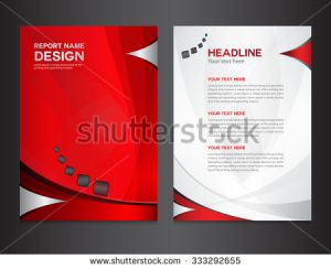 banner design templates stock vector red annual report design vector illustration cover template brochure flyer layout booklet