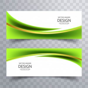 banners for sale modern green wavy banners