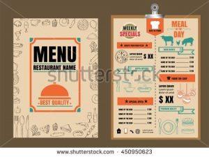 bar menu template stock vector restaurant food menu design with chalkboard background