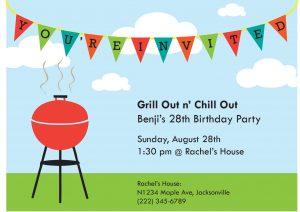 barbeque invitations templates bday invite