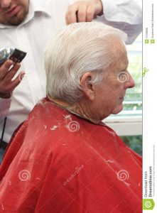 barber business cards grandpa gets haircut