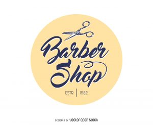 barber shop flyer ebfecaeee barber shop circle logo