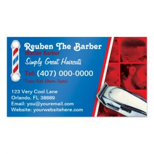 barbershop business cards barbershop barber barber pole and clippers business card rbbeadbbcfaef it byvr