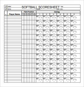 baseball lineup sheet simple softball score sheet pdf