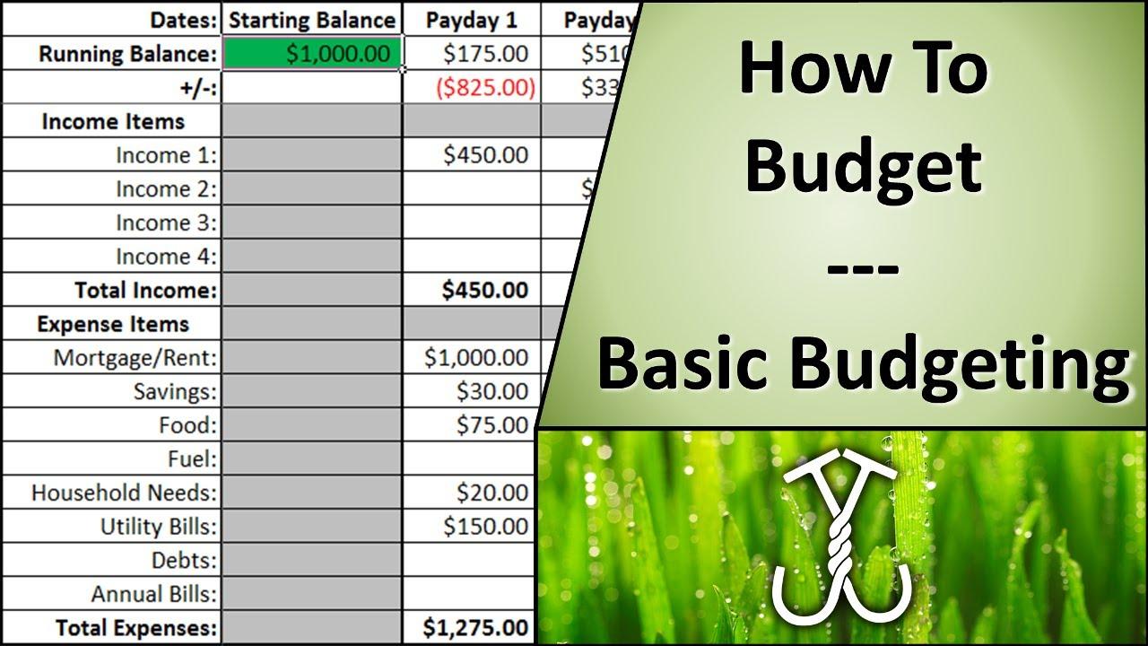 basic budgeting template