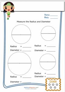 basic geometry worksheets basic geometry worksheet radius diameter
