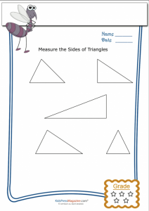 basic geometry worksheets basic geometry worksheet triangle measurement