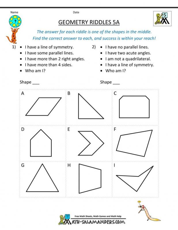 Basic Geometry Worksheets | Template Business