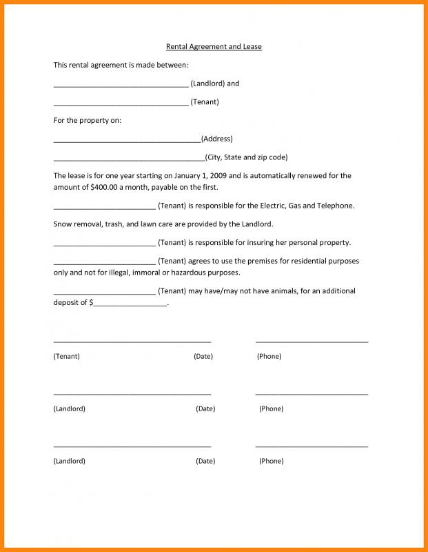 basic lease agreement