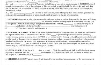 basic lease agreement basic rental agreement lease