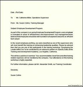 basic letter format job offer letter for training