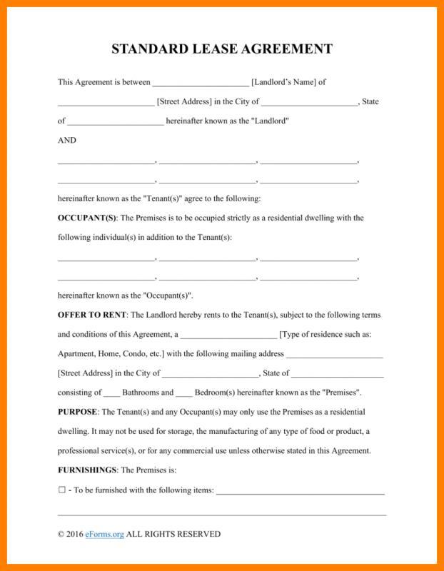 basic rental agreement