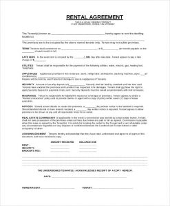 basic rental agreement basic rental agreement1