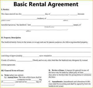 basic rental agreement basic residential lease agreement bais rental agreement 1