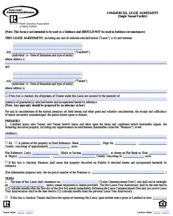 basic rental agreement or residential lease word doc
