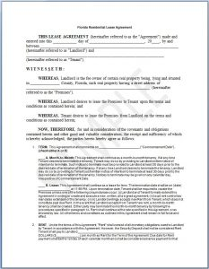 basic rental agreement or residential lease word doc residential lease