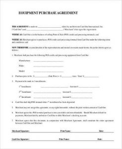 basic rental agreement pdf simple equipment purchase agreement form