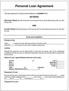 basic rental agreement template doc sample loan agreement between family members