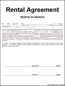 basic rental agreement template rental agreement template
