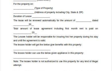 basic rental agreement word document basic rental agreement