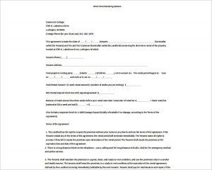 basic rental agreement word document basic rental agreement template model