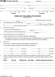 basic rental application maryland separation agreement template