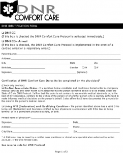 basic rental application ohio do not resuscitate form