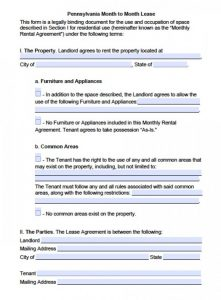 basic rental application pennsylvania month to month lease x